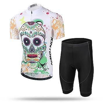 XINTOWN Jersey de la bici del Mens y 3D calcetines rellenados de la compresión de los