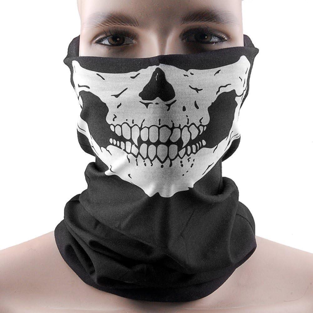 Máscara de Esqueleto de Calavera Hitaocity con Colmillos Tubo Bandana pasamontañas Snowboard Moto x protección Facial máscara de Harley Davidson de esquí y Snowboard multifunción táctica Seamless