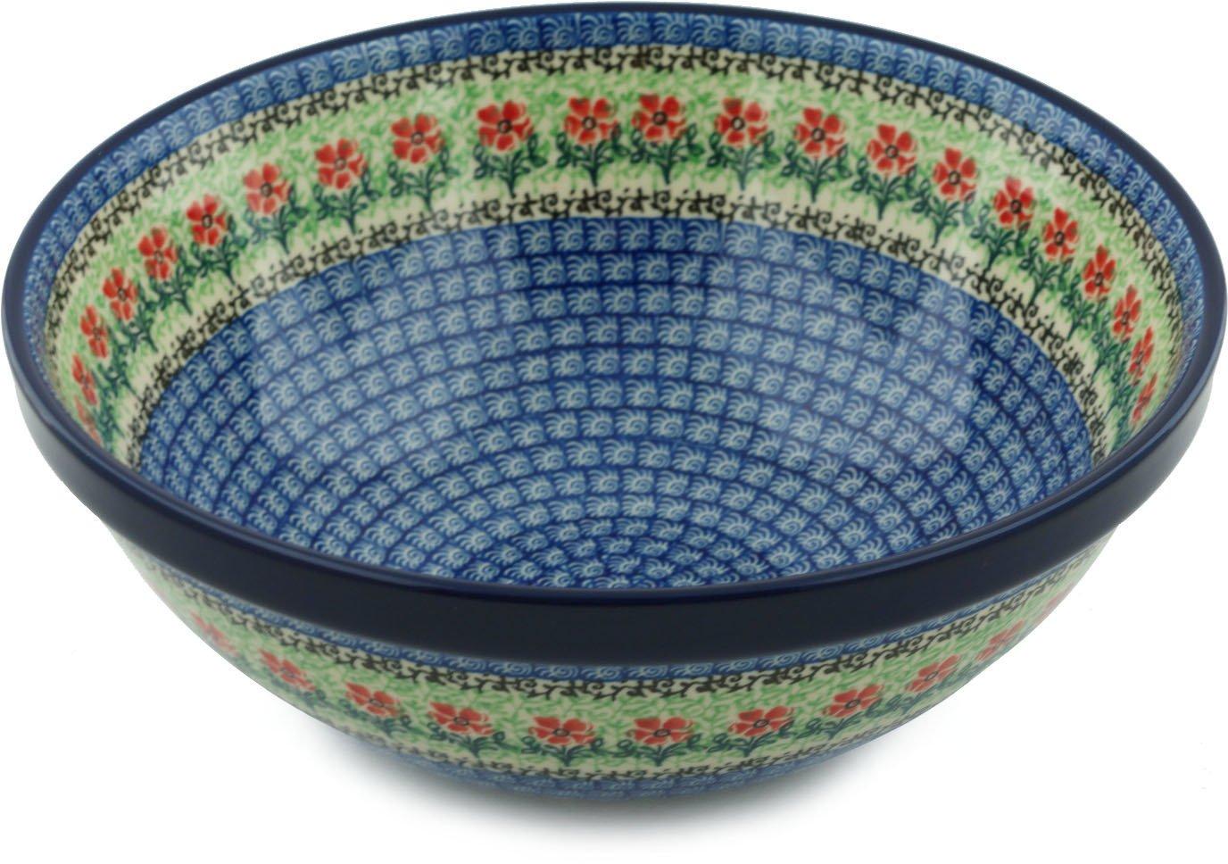 Polish Pottery Bowl 11-inch Maraschino made by Ceramika Artystyczna by Polmedia Polish Pottery