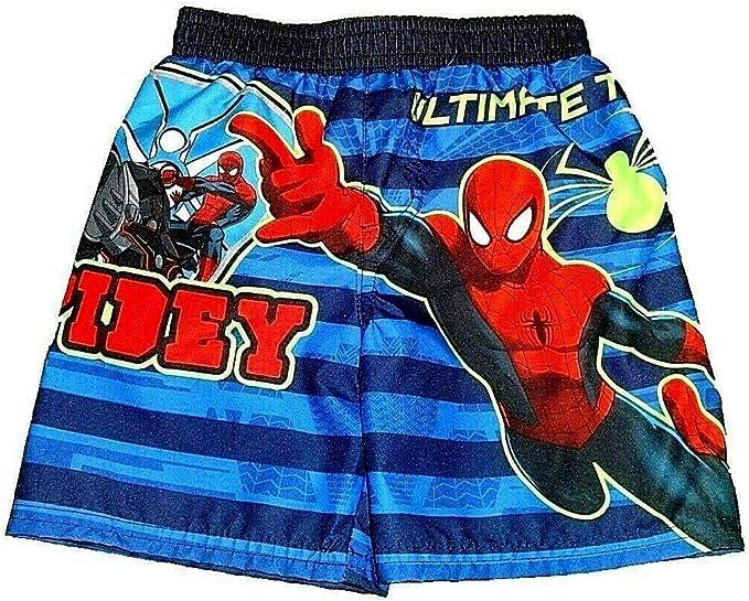 Spider-Man Marvel Print Blue Swimming Trunks Swim Beach Shorts Surf Water Boxers for Boys