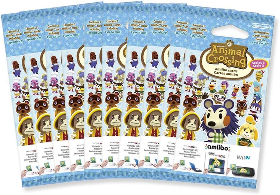 10x Amiibo Karten 3 Stück Animal Crossing Vol. 3 [Importación alemana]: Amazon.es: Videojuegos