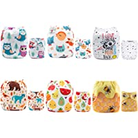 ALVABABY Cloth Diaper Reuseable Washable Adustable Pocket Newborn Infant Toddler for Baby Boys and Girls 6 Pack with 12 Inserts Inserts Setting Gift 6DM21