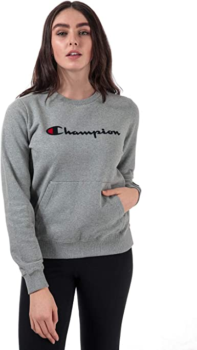 Champion Reverse Weave Crewneck Sweatshirt Sudadera, Gris (Oxgm ...