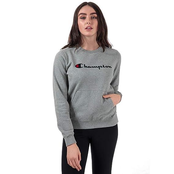 Champion Reverse Weave Women s Crewneck Sweatshirt  Champion  Amazon ... a321c57252