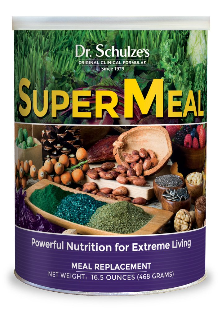 Dr. Schulze's | SuperMeal | Organic SuperFood Powder | Ideal for Meal Replacement | Vegan Dietary Supplement to Boost Energy & Improve Fitness | Weight Loss Aid | Non-GMO & Gluten-Free | 16.5 Oz. by Dr. Schulze's