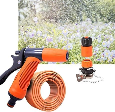 Jardín de riego del césped Equipo de riego Pistola de pulverización de la Boquilla Manguera de jardín Pistola de Agua Riego Boquillas (Size : 30m Suit): Amazon.es: Hogar