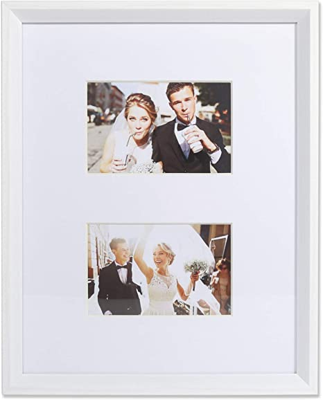 Amazon Com Lawrence Frames 4x6 Wide Border Double Matted Gallery White 11x14 Picture Frame Home Kitchen