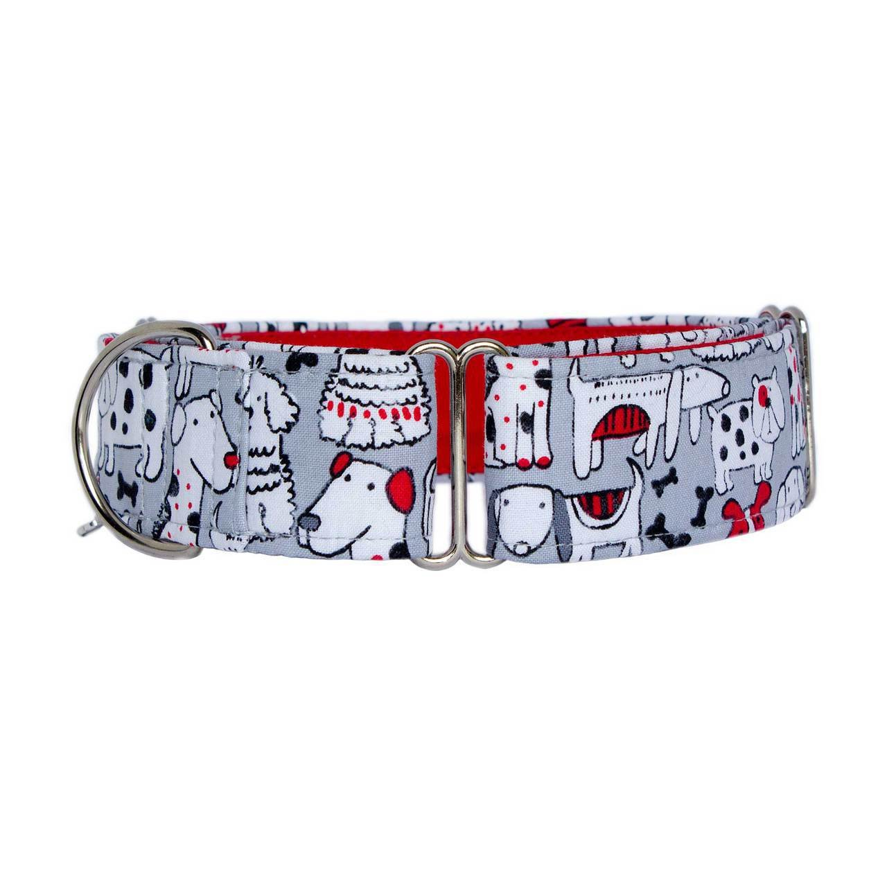 Large 1.5\ Noddy & Sweets Martingale Collar 1.5  Width [Happy Tails] Large