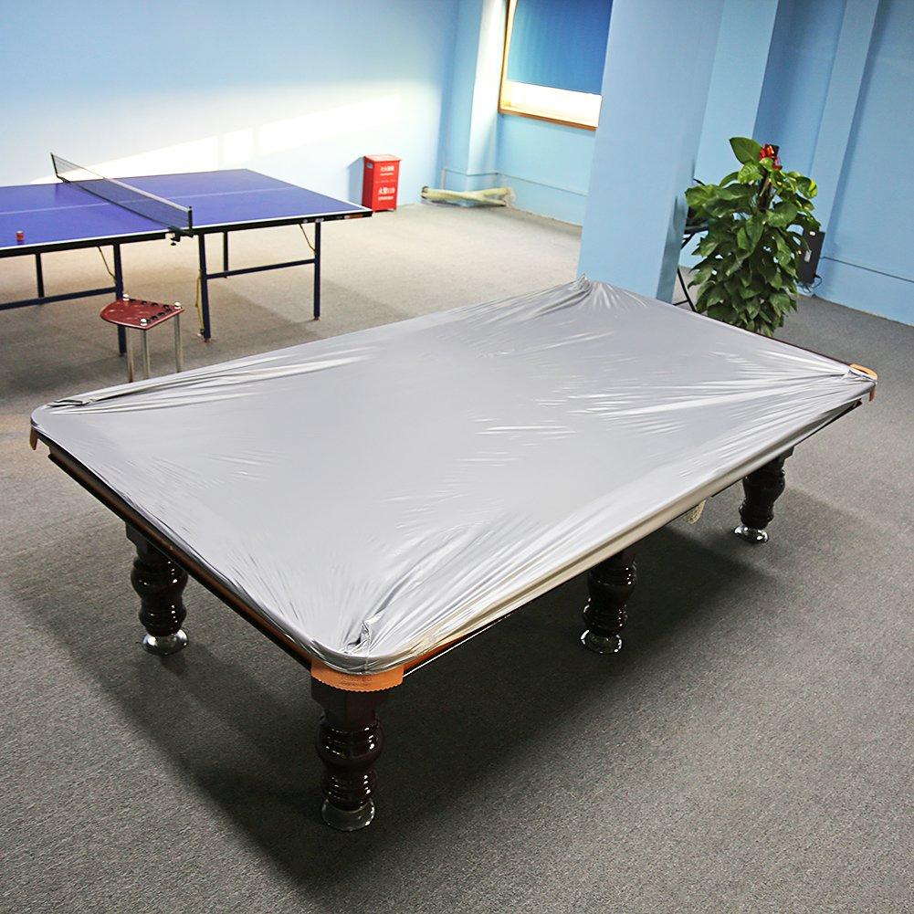 Filfeel Pool Table Cover Billiard Dustproof Protection 8 FT Snooker Table Waterproof Moistureproof PVC Cloth 102.36 x 66.93inch