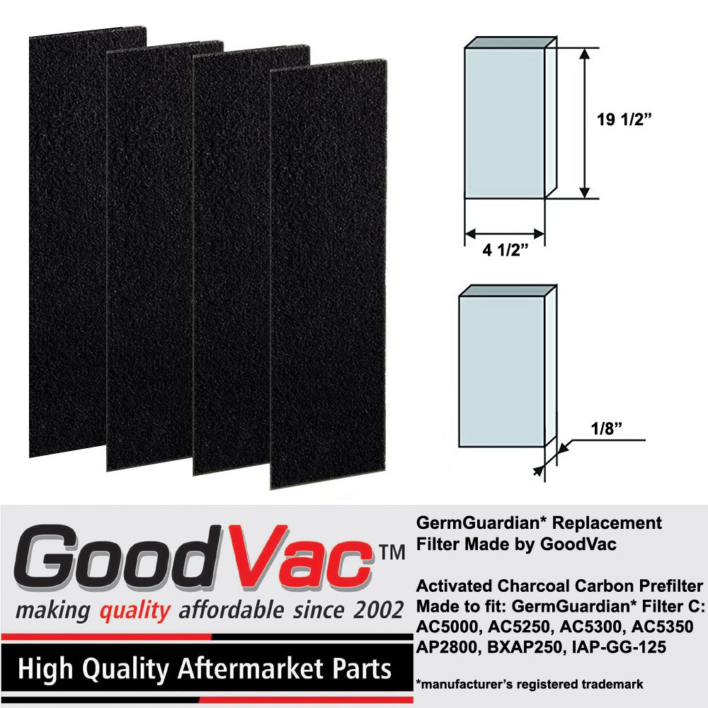 GermGuardian AC5000 Filter C Carbon Filter Replacement Pre-Filter by GoodVac (4)