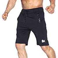 BROKIG Men's Gym Shorts, Athletic Workout Running Mesh Shorts with Pockets