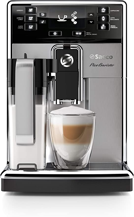 Saeco HD8927/47 PicoBaristo Super Automatic Espresso Machine, 1.8 L, Stainless Steel