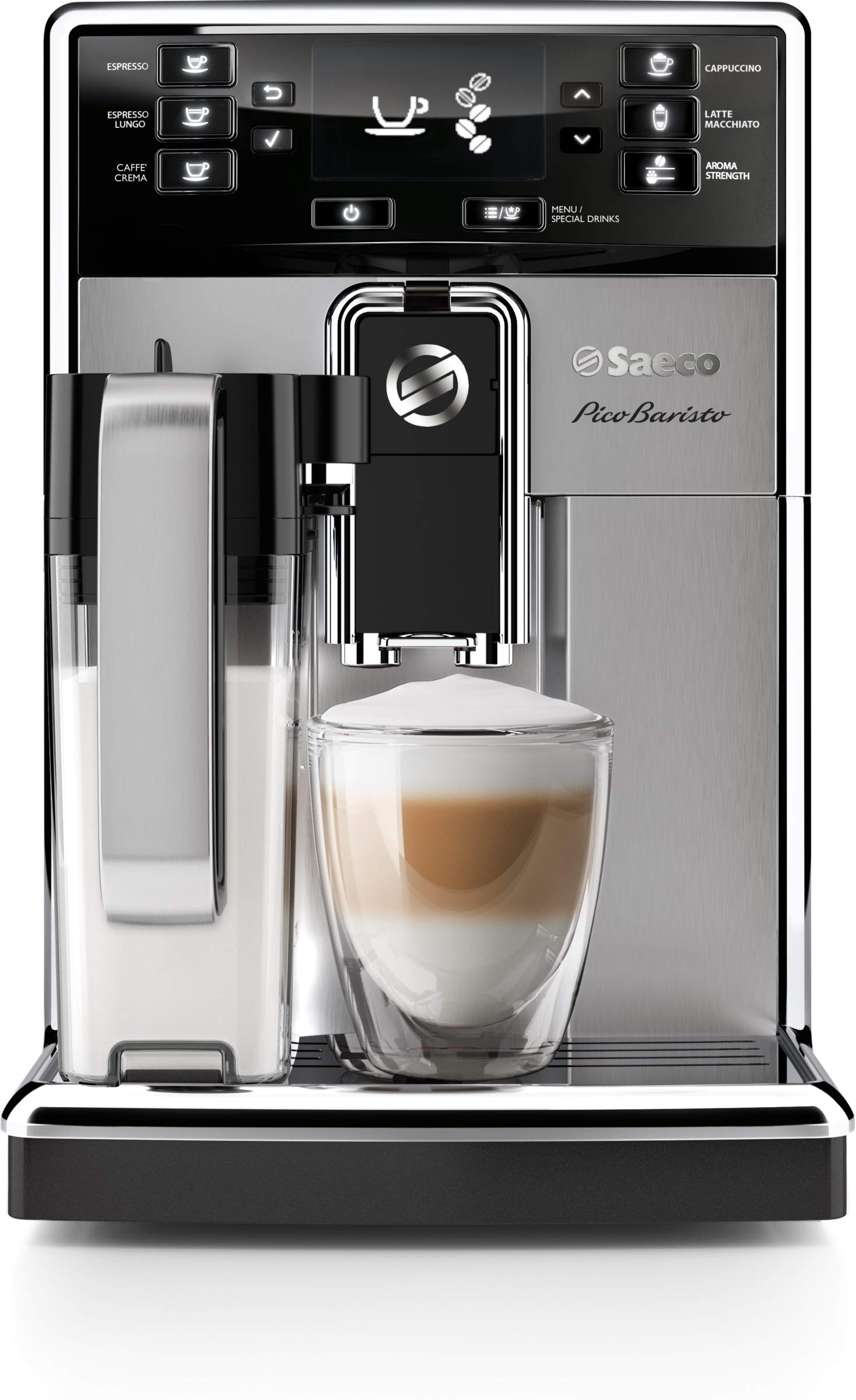 Saeco HD8927/47 PicoBaristo Super Automatic Espresso Machine Stainless Steel by Saeco