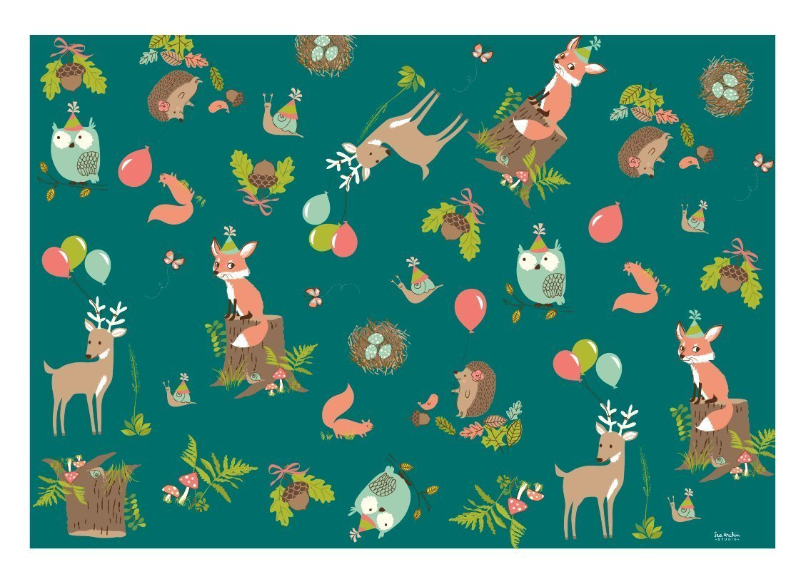 Sea Urchin Studio Gift Wrap Woodland Party