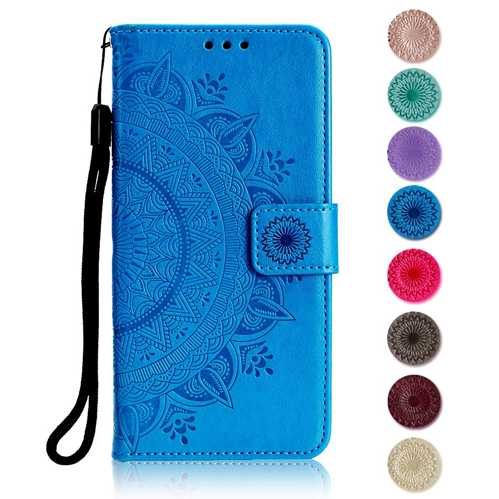 The Grafu Leather Case Premium Wallet Case with Flip Notebook Cover for Sony Xperia XA1 Ultra Kickstand Function Sony Xperia XA1 Ultra Case Gray Card Slots