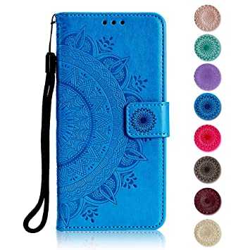 PU Anti-dust Wallet Case for Apple iPhone SE//iPhone 5 5S Blue The Grafu/® Flip Leather Cover with KickStand and Magnetic Closure iPhone SE // 5 5S Case Card Slot