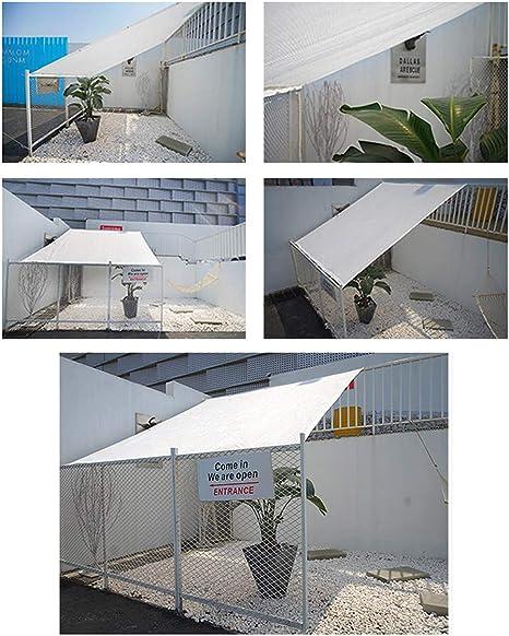 SUNDUXY Toldo Vela de Sombra Rectangular Toldos para Patio, Cifrado Espesar HDPE Resistente protección Rayos UV para Patio Exteriores Jardín Villa Blanco,1x1m: Amazon.es: Hogar