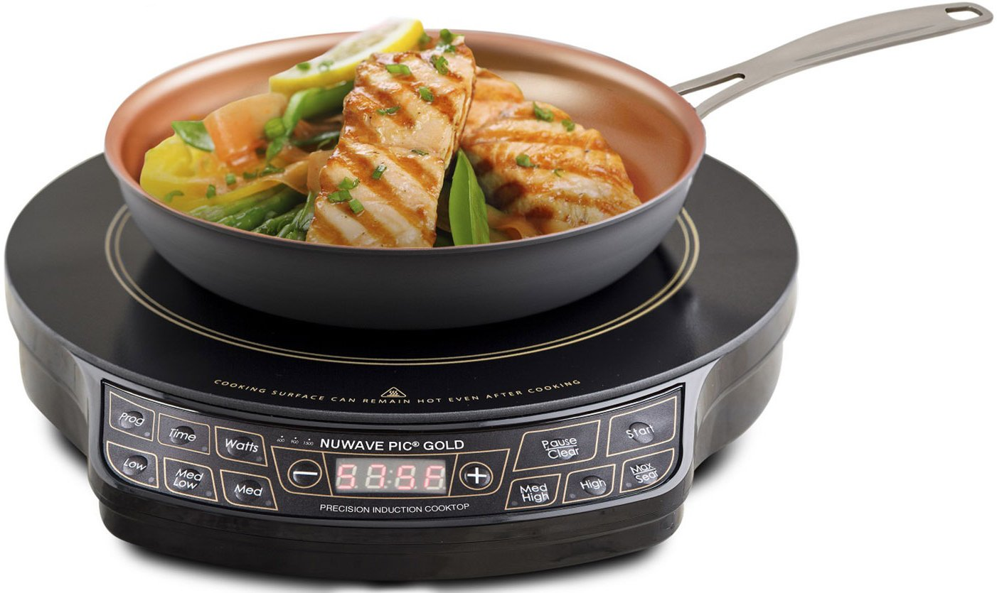 NUWAVE 30242 Lightweight Induction Cooktop With 9 in Fry Pan, 10.8 A, 1300 W, Black