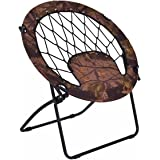 Giantex Folding Bunjo Bungee Chair Outdoor Camping Gaming Hiking Garden Patio Round Web Portable Steel Bungee Dish Chairs for Adults Kids, Camouflage