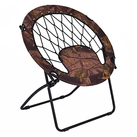 Exceptionnel Giantex Folding Bunjo Bungee Chair Outdoor Camping Gaming Hiking Garden  Patio Round Web Portable Steel Bungee