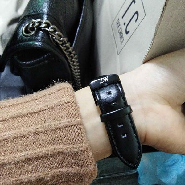 レディース通用-Zeiger-日本製クオーツムーブメントアナログ-レザーバンド-時計(ブラック)