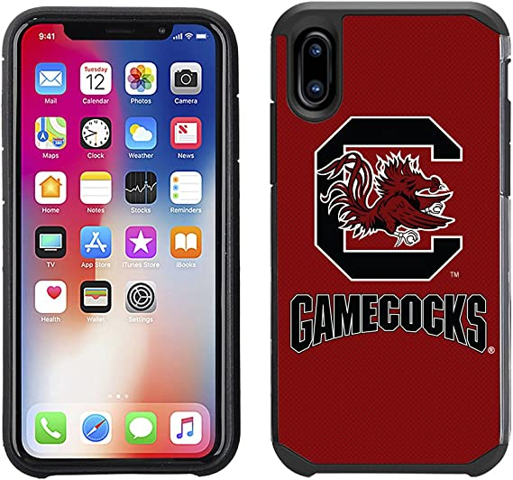 Prime Brands Group Textured Team Color Cell Phone Case for Apple iPhone 8//7//6S//6 NCAA Licensed University of South Carolina Gamecocks