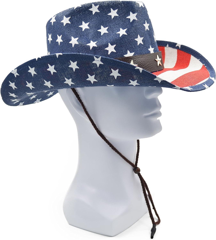 Melesh Adult Sun Straw Western Cowboy Hat