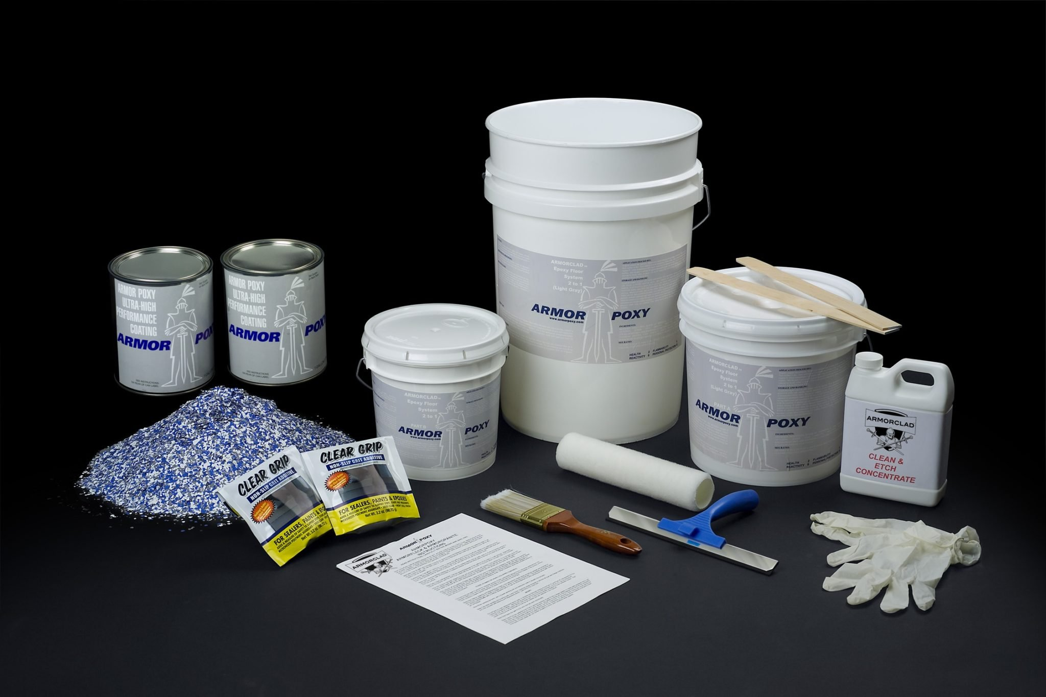 Armorclad Low Temp Master Kit Up to 600 SQ FT with Primer & Topcoat, Racing Blue