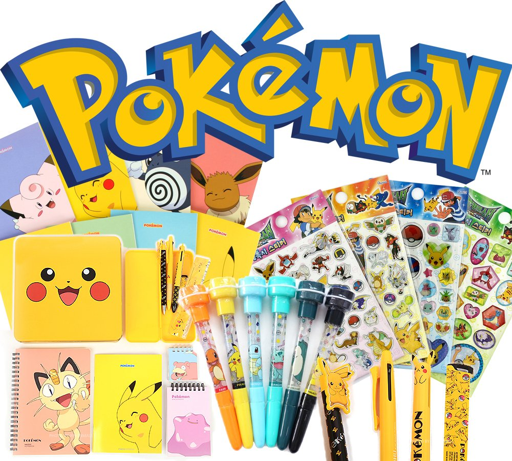 Pokemon Assorted School Supply Pen Pencil Note Stationary Gift Set