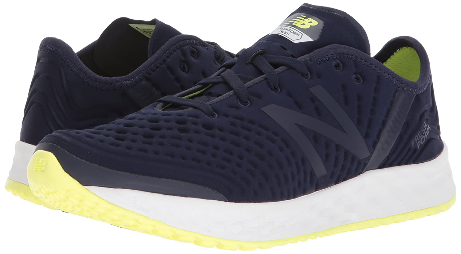 New Crush Balance Women's Fresh Foam Crush New V1 Cross Trainer B005ATPTIO 5 D US|Pigment/Solar Yellow fadfb1