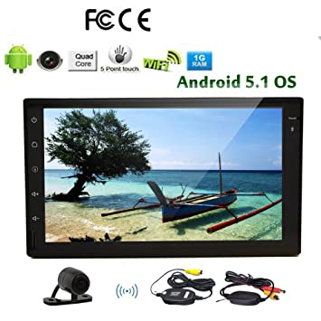 Doble DIN GPS Car Stereo Radio Android 5.1 sin DVD 7 pulgadas multi-t¨