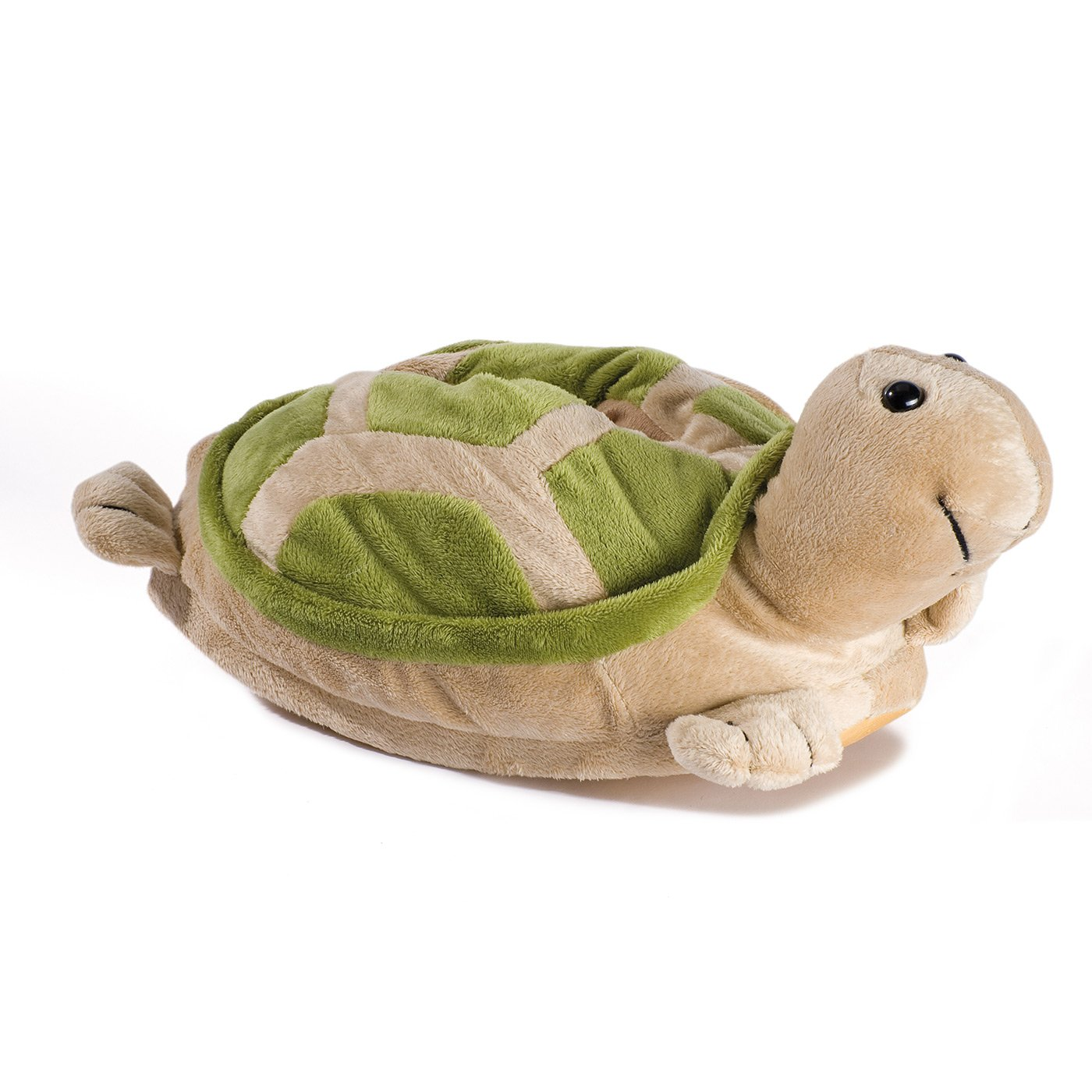 Funslippers Unisex Plush Indoor Novelty Slippers Animal Turtle Green