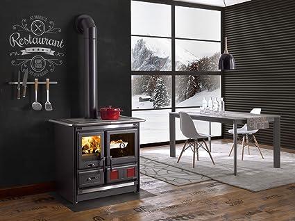 amazoncom wood burning cook stove la nordica rosa l with baking oven appliances - Wood Burning Kitchen Stove