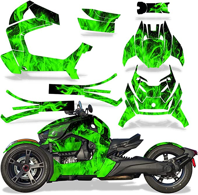 AMR Racing Roadster Graphics Kit Sticker Decal Compatible with Can-Am Ryker 2019 Slick