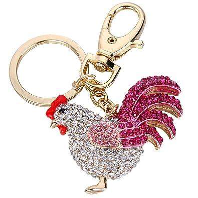 Ever Faith - Oro-Tono Gallo Llavero Cristal Austriaco Pink ...