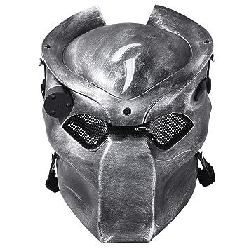 OUTGEEK Alien Vs Predator AVP Máscara de Lobo Máscara de Airsoft Cs Wargame Máscara de Cabeza