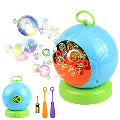 AMOSTING Bubble Machine Automatic Bubbles Blowe...
