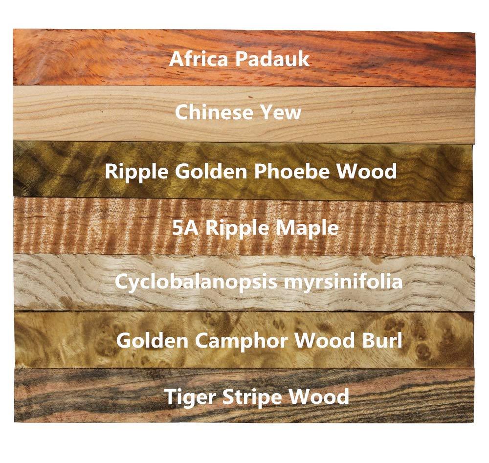 10 5pcs//10pcs//20pcs//30pcs//40pcs//50pcs Tiger Stripe Wood Turning Blanks Craft Pen Block Woodworking Project Kits 127mmx15mmx15mm