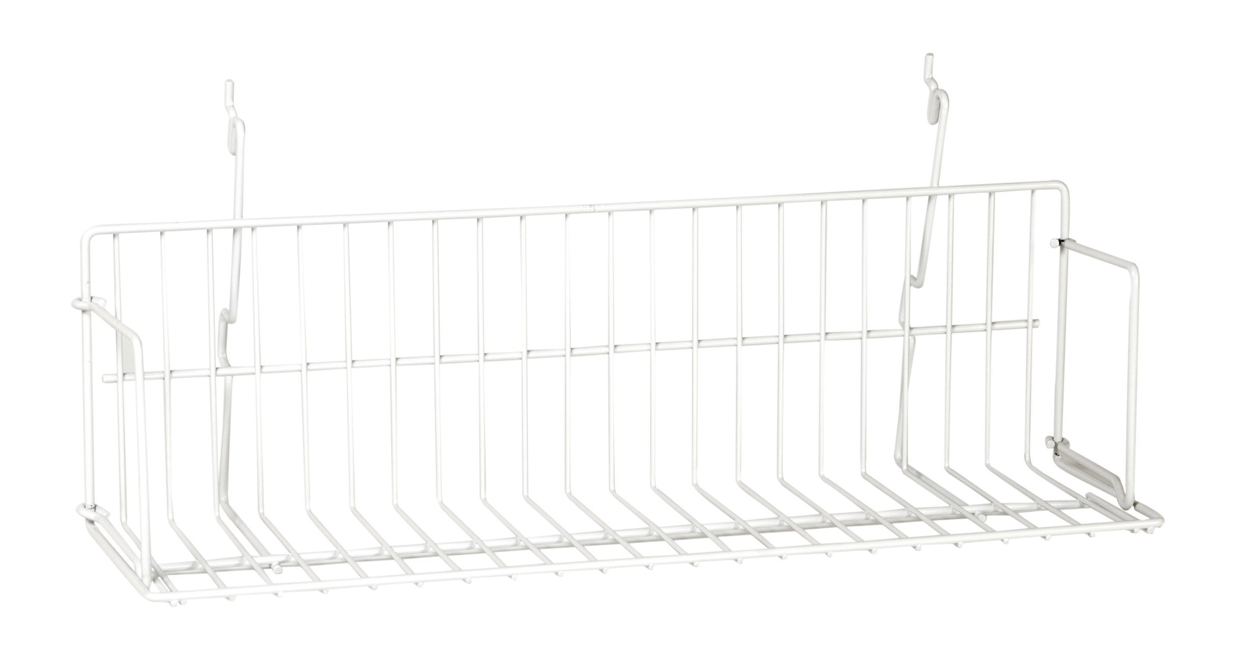 KC Store Fixtures A03051 Video Shelf Fits Slatwall, Grid, Pegboard, 23'' W, White (Pack of 6)
