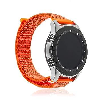 DAM. DMAB0122C17 Correa Universal De Nylon para Relojes De 20Mm. Compatible Samsung Gear S2 Classic, Samsung Gear Sport. Quick Release. Naranja