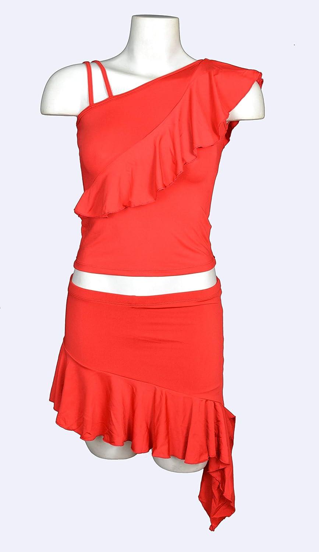 ANUKA Conjunto Mujer Dos Piezas Bailes de salón. Top y Mini Falda ...
