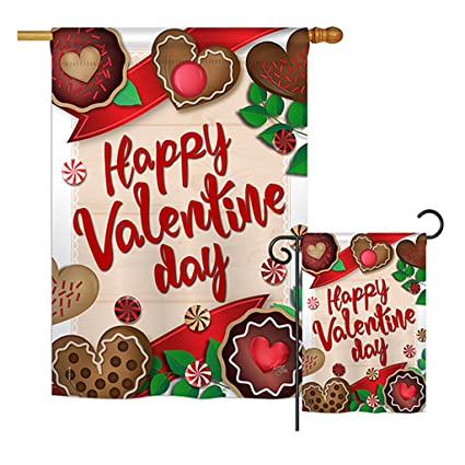 Breeze Decor Very Sweet Valentine Day   Valentines Spring Vertical  Impressions Decorative Flags Printed In USA