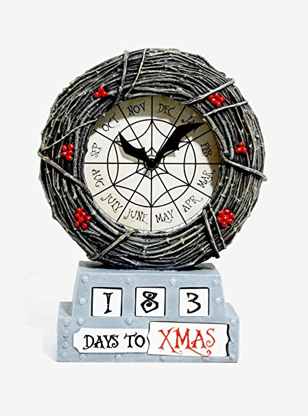 hot topic the nightmare before christmas countdown table clock exclusive