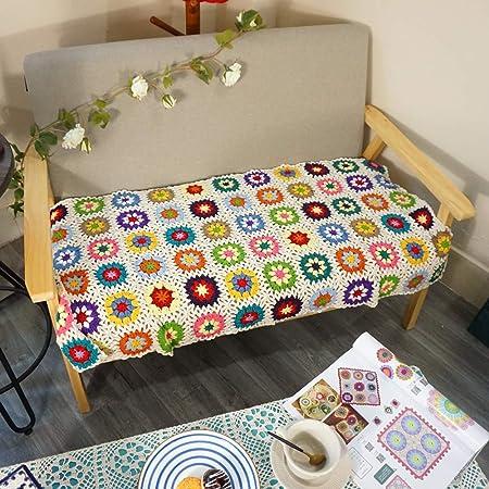 Handmade Crochet Throw Blanket Granny Blanket