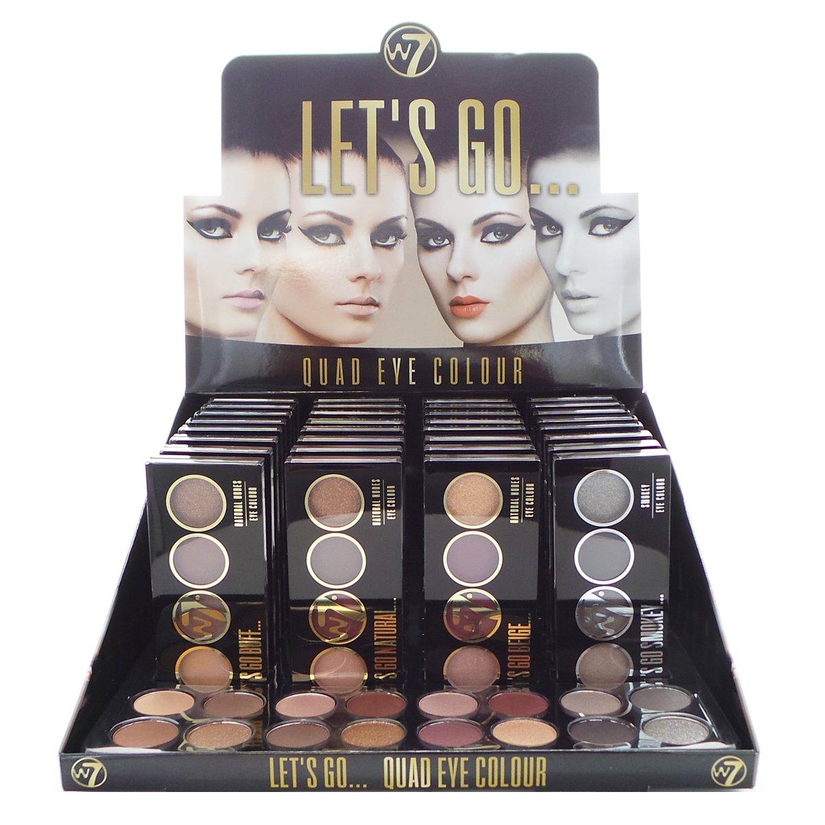W7 Let's Go Quad Eye Color Display Set, 32 Pieces Plus Display Testers (並行輸入品) B0767G2PS5