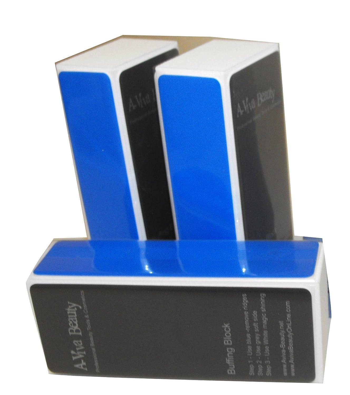 Amazon.com : A-viva Beauty 4 Way Shine Nail Buffer Block, 3 Count ...