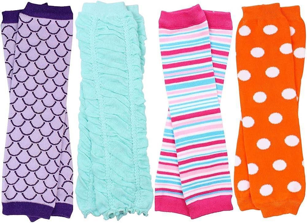 juDanzy Polka Dot 4 Pack Baby /& Toddler Leg Warmers