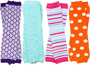 juDanzy 4-pack Baby /& toddler Boys Solid Colors Leg warmers