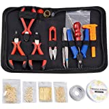 Kit de Herramientas para Joyería Kits para Elaborar Bisutería Hacer Joyas Conjunto Jewelry Making Tools incluye Alicates Pinz