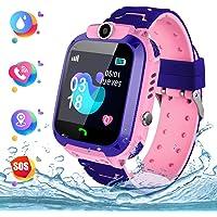 Reloj Inteligente para Niños,Kids Smartwatch con Cámara, La Musica y 7 Juegos Smartwatch para niños de 3-12 años Niñas Reloj Telefono con Ranura para Tarjeta SIM Juego de Pantalla Táctil Smartwatches Phone Childrens Gift(Rosa)